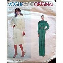 Misses Dress Belt Vogue Paris 2352 Pattern Nina Ricci Vintage 1970s Size... - $6.99