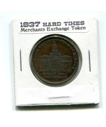 1837 Wall Street New York, Hard Times Merchants Exchange Token, Millions... - $77.50 CAD