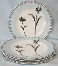 Charter Club Tuilleries Blue Floral Salad Plate set of 4 - $60.28
