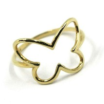 SOLID 18K YELLOW GOLD BUTTERFLY TUBE RING, SMOOTH image 1