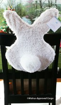 POTTERY BARN KIDS FUR BUNNY CHAIRBACKER -NWT- STRAP IN FOR SPRINGTIME ME... - $39.95