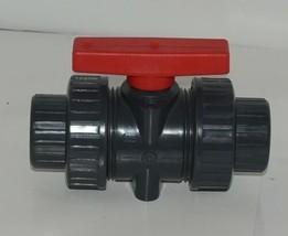 American Granby Inc ITUV 125SE 1 1/4 Inch PVC Blocked True Union Ball Valve image 1