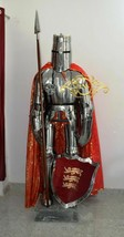 Knight Templar Suit of Armor Medieval Scottish Plate Wearable LARP costume - $971.80