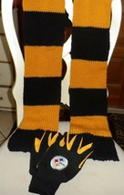 Black and Gold Pittsburgh Steelers gloves and knit scarf set - $12.50