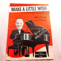 Make A Little Wish Sheet Music Vintage 1942 Frame Cover Art Happy Jack T... - $18.79