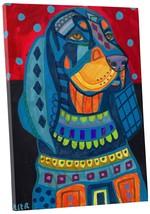 "Pingo World 0708QBKC8DM ""Heather Galler Black Tan Coonhound Dog"" Gallery... - $53.41"