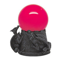 6.5 Inch Dragon Sandstorm with Giant Red Orbe Ball Statue Figurine - $32.66