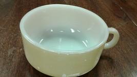 1950s Glasbake Glass: J-2711 Tan Soup Bowl Mug Handle Stackable - $3.96