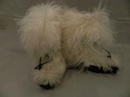 Tibetan Fur Boots Anne Klein Collection White Mid Calf 6 - $39.15