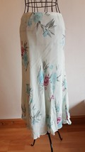 1970 Vintage Paul Separates Floral Blue Skirt Size UK 10 - $19.03
