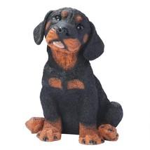Rottweiler Puppy Dog Statue Cute Man Best Friend Canine Outdoor Yard Pat... - $47.99