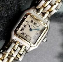 Cartier Panthere 1990s Ladies 18k Gold & SS Luxury Quartz Original Watch MA88 - $2,901.78