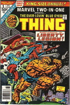 Marvel Two-In-One Annual Comic Book #1 The Thing & Liberty Legion, 1976 ... - $5.94