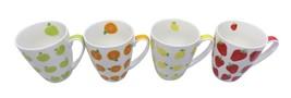 Set de 4 Fruit Tasses Mugs Boite Cadeau Fraise Apple Orange Citron X 11 ... - $16.72