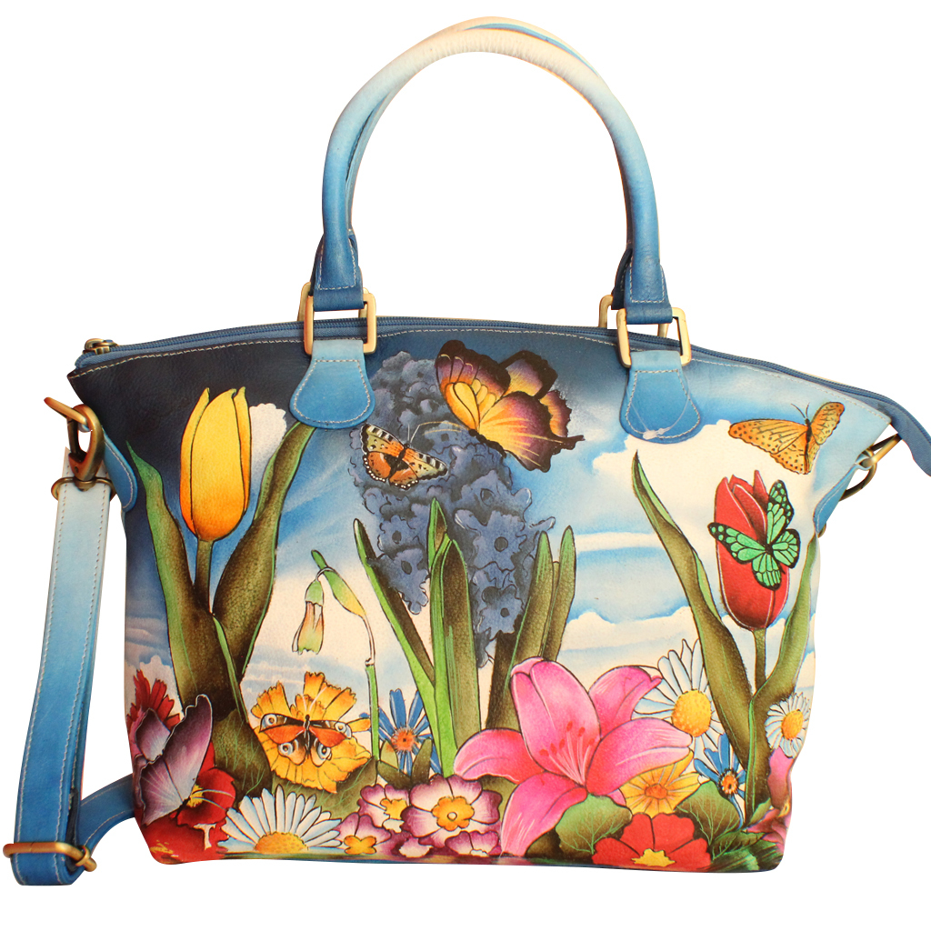 Primary image for Magic Of Nature Art Designer Hand Painted Genuine Cowhide Leather Ladies Handbag
