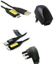 SAMSUNG PL121 DIGITAL CAMERA USB CABLE / BATTERY CHARGER & WALL PLUG - $9.46