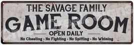 THE SAVAGE FAMILY Game Room Country Look Metal Sign 6x18 Chic Décor A618... - $29.95+