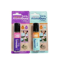 Aroma Guru Lavender & Peppermint Aromatherapy Roll-On Combo Pack 0.27oz ... - $10.06