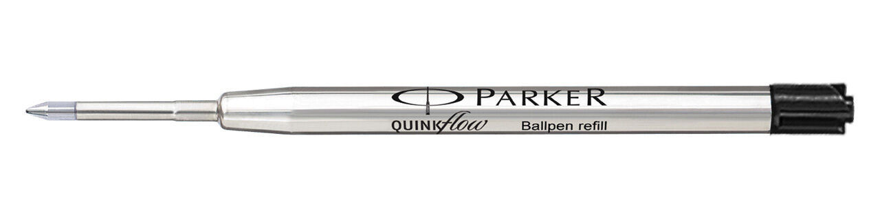 6 x Parker Quink Flow BallPoint Pen BallPen Refills Medium 3 Blue + 3 Black New image 2