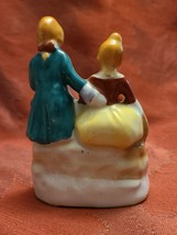 "Vintage Porcelain Figurine - Victorian Man and Woman - Made in Occupied Japan 4"" image 2"
