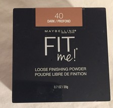 MAYBELLINE FIT ME LOOSE FINISHING POWDER SHADE DARK 40/PROFOUND NEW UNOP... - $6.20