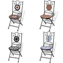 vidaXL 2x Bistro Chair Mosaic Outdoor Garden Patio Cafe Seat Furniture 4... - $93.99+
