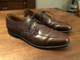 Allen Edmonds Mens Size 11.5 Brown Leather Lace Up Burton Oxfords Made In Usa - $47.50