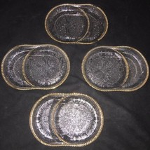Vtg Set of 4 Jeannette Glass Harp Pressed Glass Ashtray/Coaster - $14.50