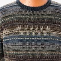 Geoffrey Beene Classic Mens Sweater Medium Brown Gray Crew Neck Pullover... - $37.39