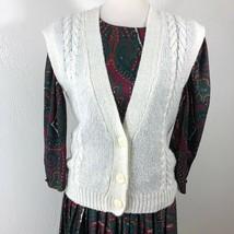 VTG Coral Bay Size S Sweater Vest Sportswear Acrylic Secretary Academia ... - $15.25