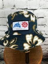 Mob Hawaii Unisex One Sz Hat Blue Hawaiian Floral Bucket Sun Explorer - $24.74