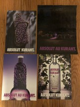 Absolut Au Kurant Collection Of Original Magazine Ads - $1.99
