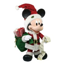 MERRY MICKEY MOUSE CHRISTMAS LARGE COLLECTIBLE FIGURE 30 INCHES TALL WOW - $247.50