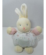 Luv N Care Plush soft baby toy round cream yellow bunny rabbit Luck star... - $4.94