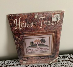 Brand New Welcome Cottage Counted Cross Stitch Kit Heirloom Treasures 8x10 - $11.49