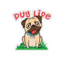 Pug Life Kiss-Cut Stickers - $6.23