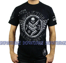 AFFLICTION Compound A11210 New Men`s Black T-shirt - $41.21