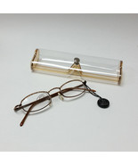 Jimmy Crystal GL180 Swarovski Glasses Light Colorado Topaz Gold Read Des... - $42.99