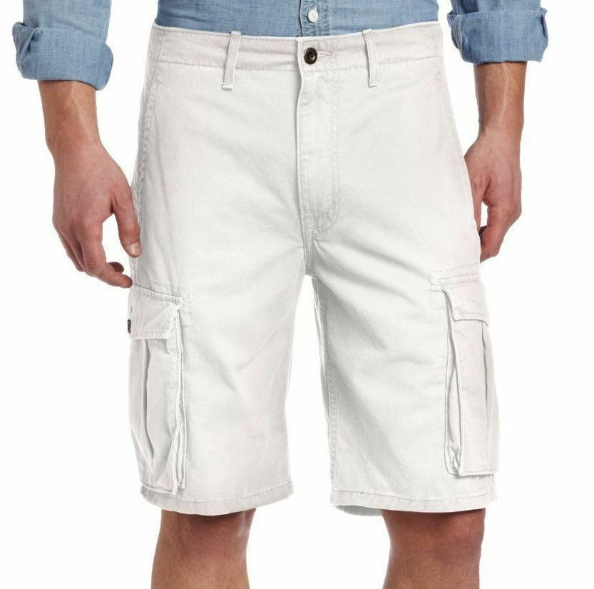 Levi's Men Premium Cotton Cargo Shorts Original Relaxed Fit White 124630025