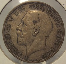 KM #83.5 1933 Silver Great Britain 1/2 Crown #0348 - $7.99
