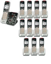 AT&T CRL32102 DECT 6.0 12 Cordless Phones w/Answering System Talking Caller ID - $458.40