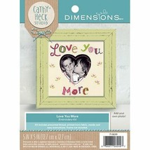 """Love You More Embroidery Kit 5"""" x 5"""" Add Your Own Photo New Heart Dimens... - $9.89"""