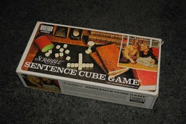 Vintage Scrabble Sentence Cube Game No. 96 Complete S and R Games - $5.00