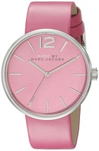 Marc Jacobs Women's MBM1363 Peggy Pink Leather Watch - $84.36
