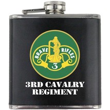 Army 3rd Cavalry Regiment Veteran Full Color Groomsman Gift Leather Wrap Flask - $19.79