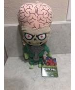 "Mezco Mars Attacks Monster Plush Doll With Brain 10"" Tall A10 - $29.99"