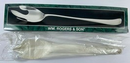 Vintage 1997 WM. Rogers Son Silverplated 12.5 in Serving Fork # 00118006... - $22.76