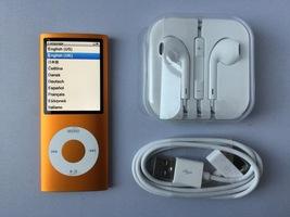 Apple Ipods Nano 4th Generation 16gb Orange Excellent - $139.00