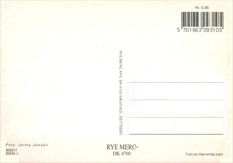 4 pcs. Alsatian, German Shepherd Dog , Postcard Printed in Denmark in the 1980s