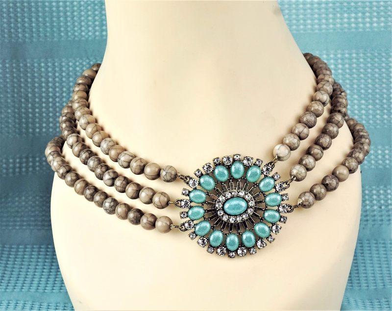 Primary image for Multi-Strand Beaded Necklace Choker